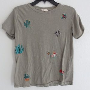 Lucky Brand Tee with Southwest Style Embroidery